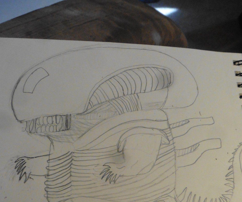 Drawing a Fat Xenomorph