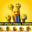 YELLOW - DIY Emoji Pencil Toppers