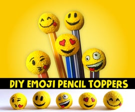 YELLOW - DIY Emoji Pencil Toppers