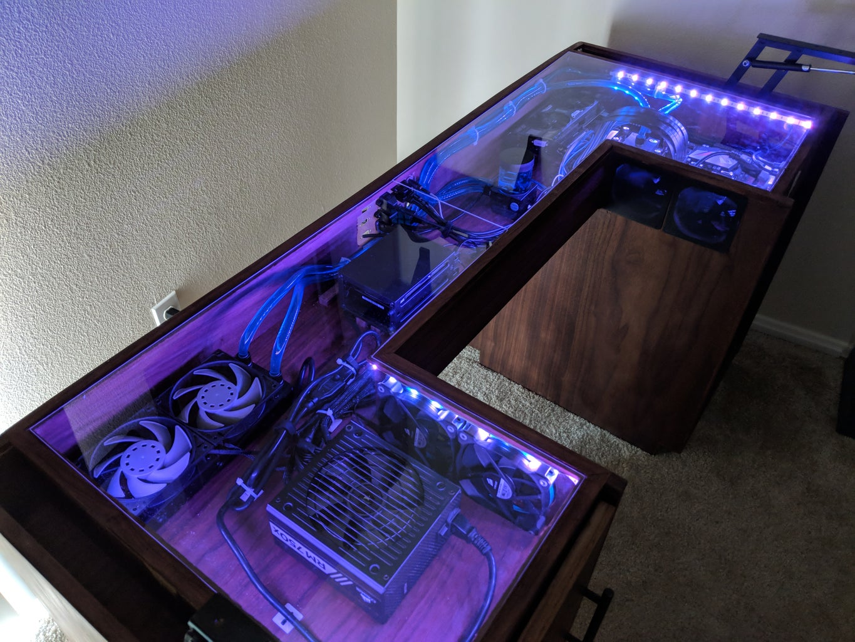 Convertible Standing Desk With Hidden Computer