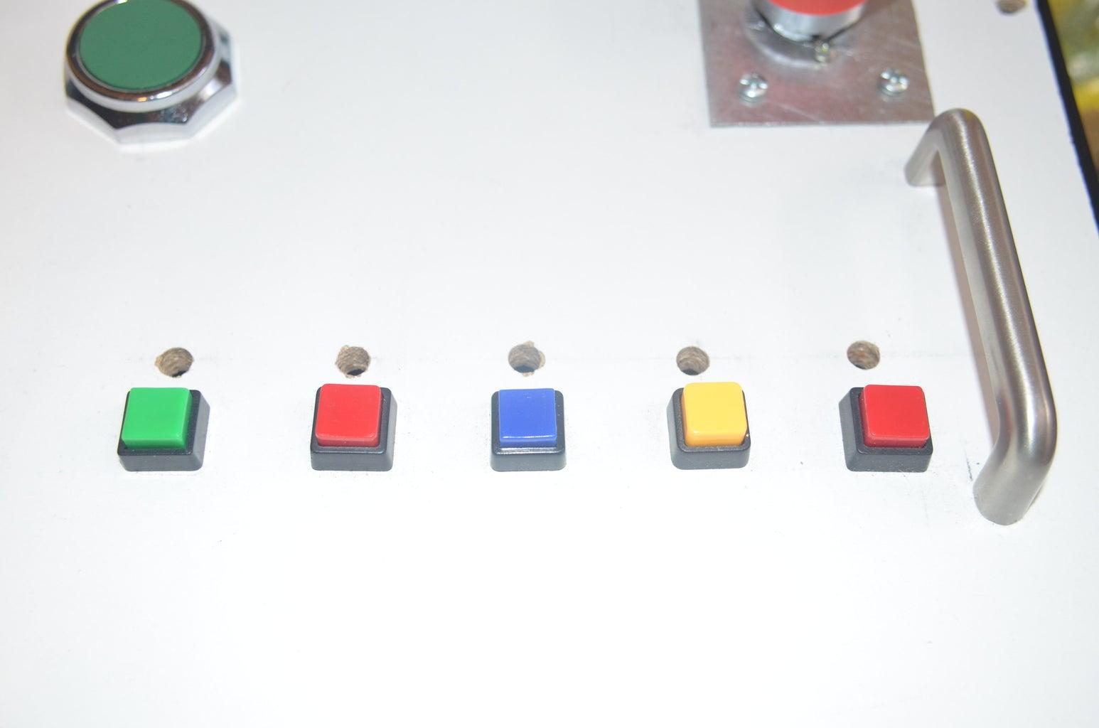 Botones Cuadrados De Diferentes Funciones