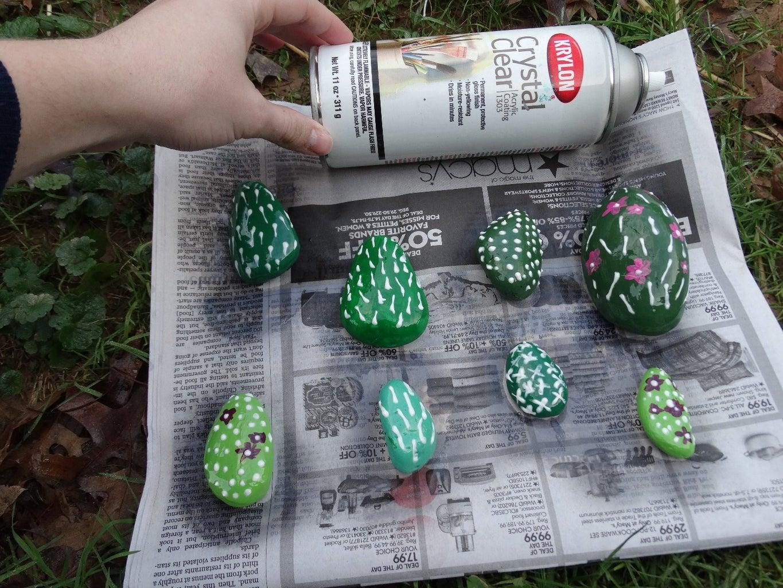 Optional: Spray Varnish the Cacti