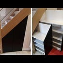 Make a Custom-made Under Stairs Sliding Shoe Cabinet