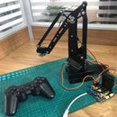 How to Control a 4dof High Power Big Size Robot Arm With Arduino and Ps2 Remote Control?