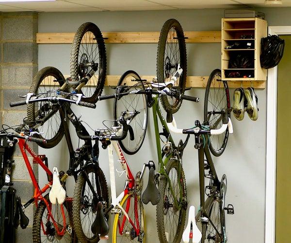 DIY Bike Rack for $20 / Bike Storage Stand & Cabinet for Garage