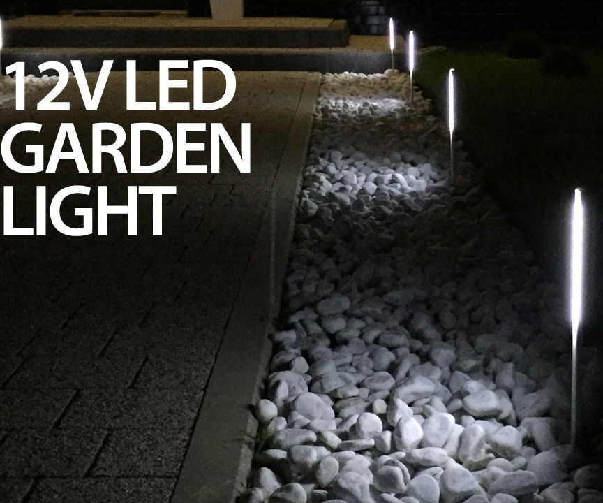 12V LED aluminum garden lights