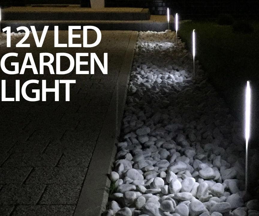 12V LED aluminum garden lights