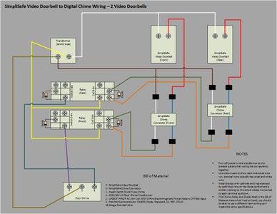 Wiring Diagram - Two Video Doorbells