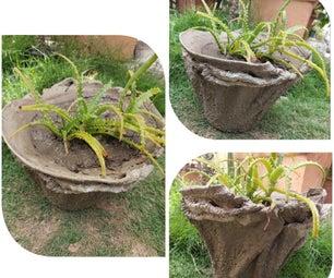 水泥毛巾plantpot.