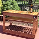 poolside wine cart