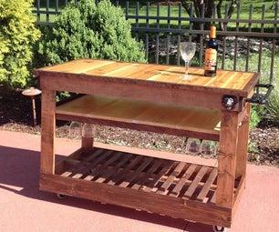 Poolside Wine Cart
