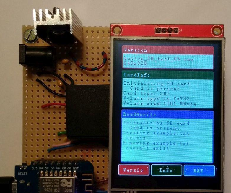 ILI9341 Touch Shield for Wemos D1 Mini