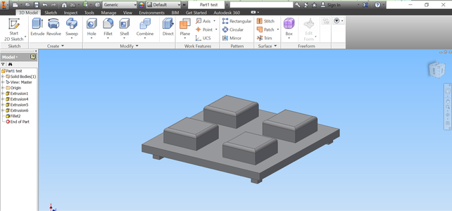 Build the Upper Part With AUTODESK Inventor