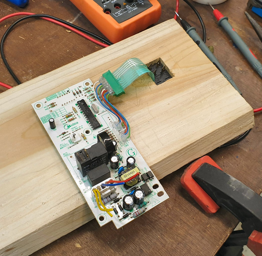 Microwave Timer #3 - Position and Stick on Keypad