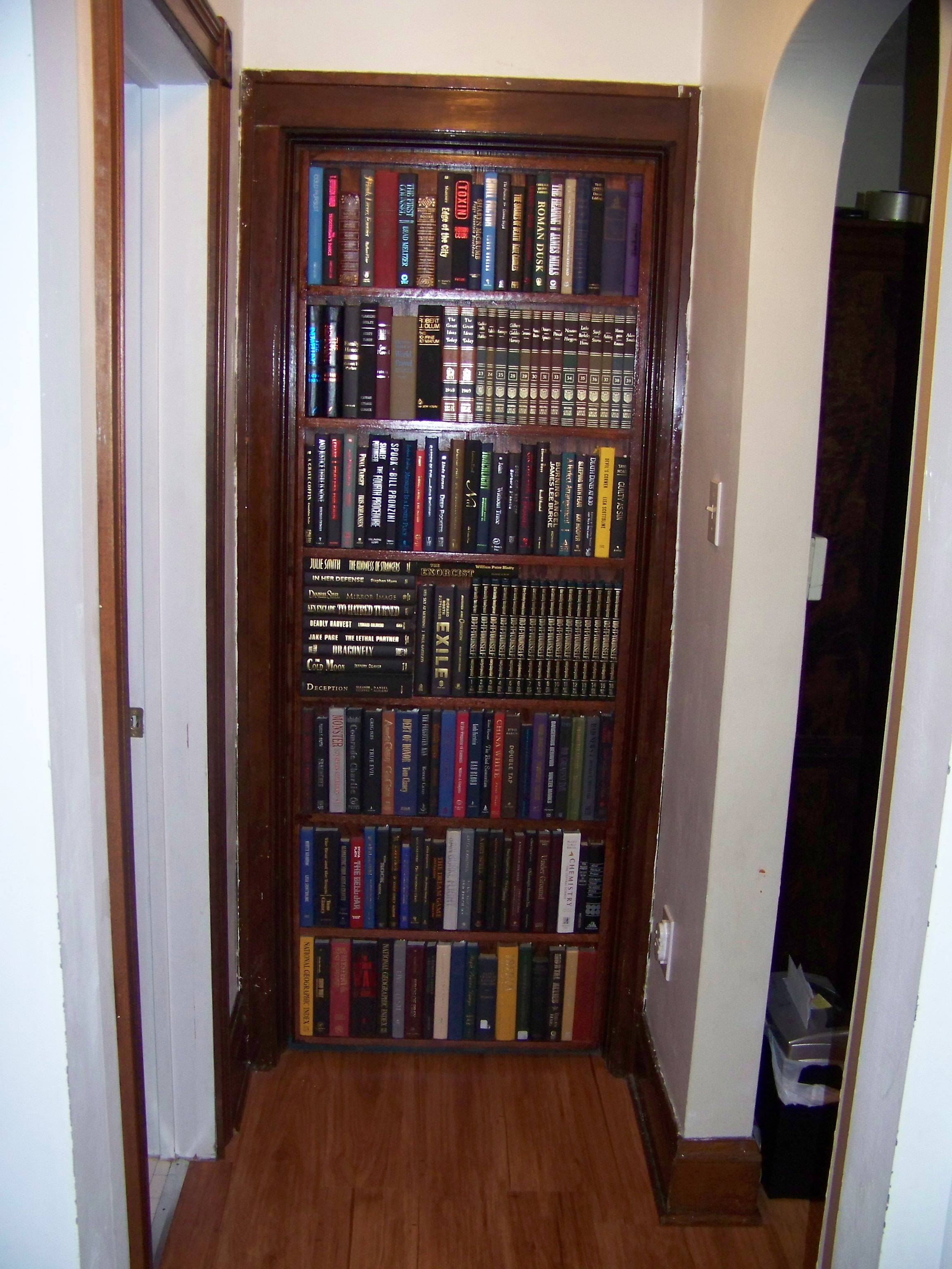 BOOKCASE DOOR THAT REPLACES YOUR DOOR.