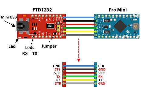 Arduino Pro Mini Progamming