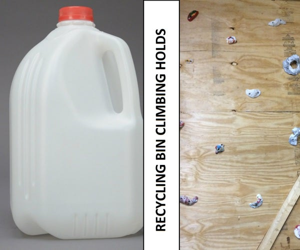 Climbing Holds From Milk Jug Recycling