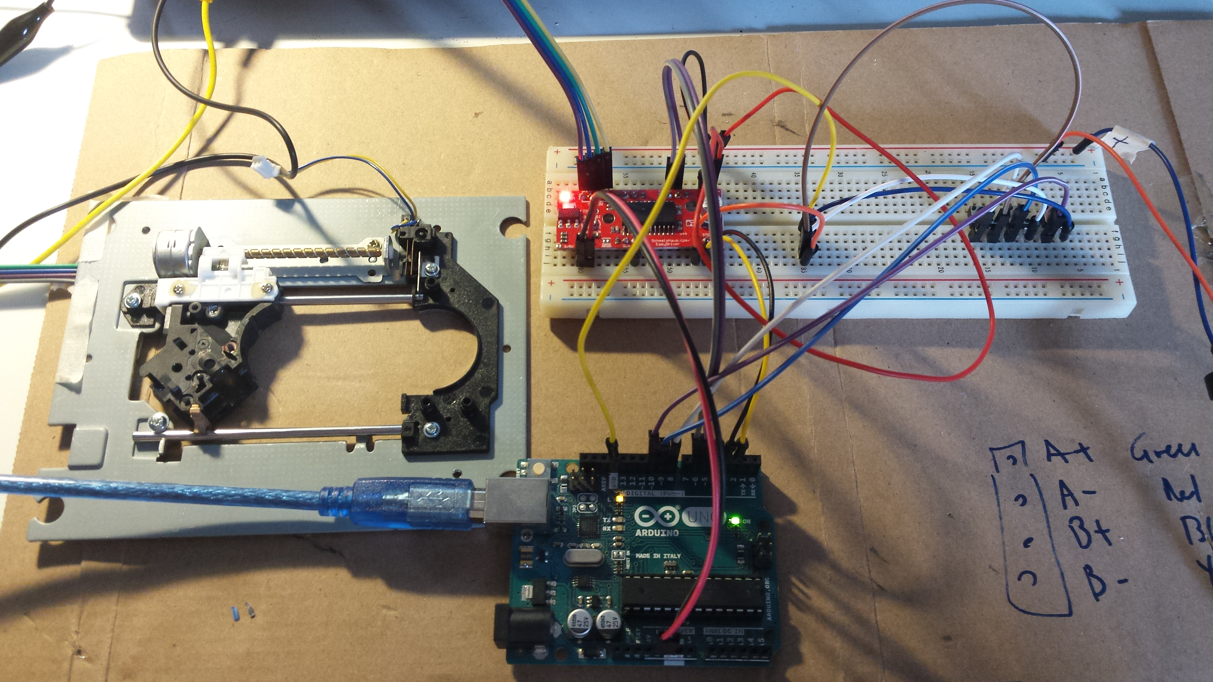 Tutorial to Use Easy Driver to Drive Stepper Motor by Using Three Buttons