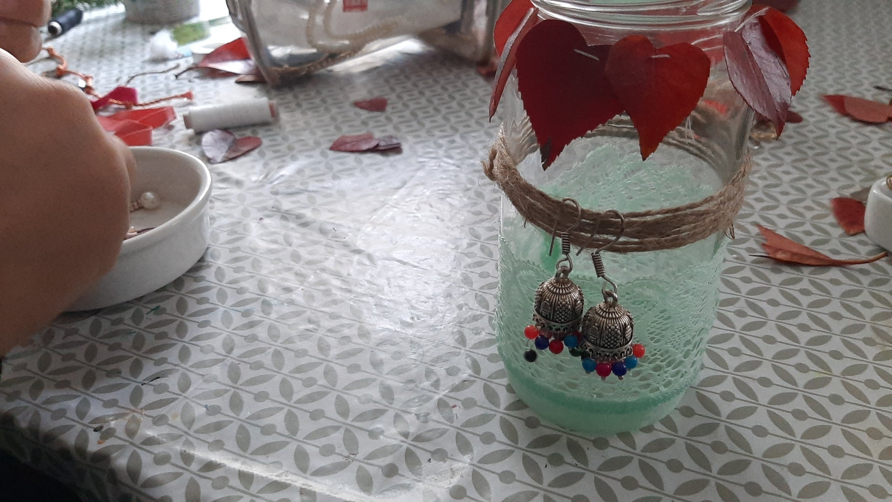 Jar 3:  Net Fabric Jar and Earning Stand