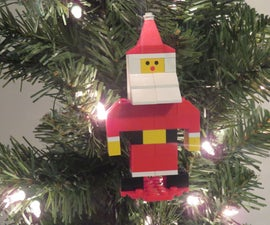 LEGO Santa Claus Ornament