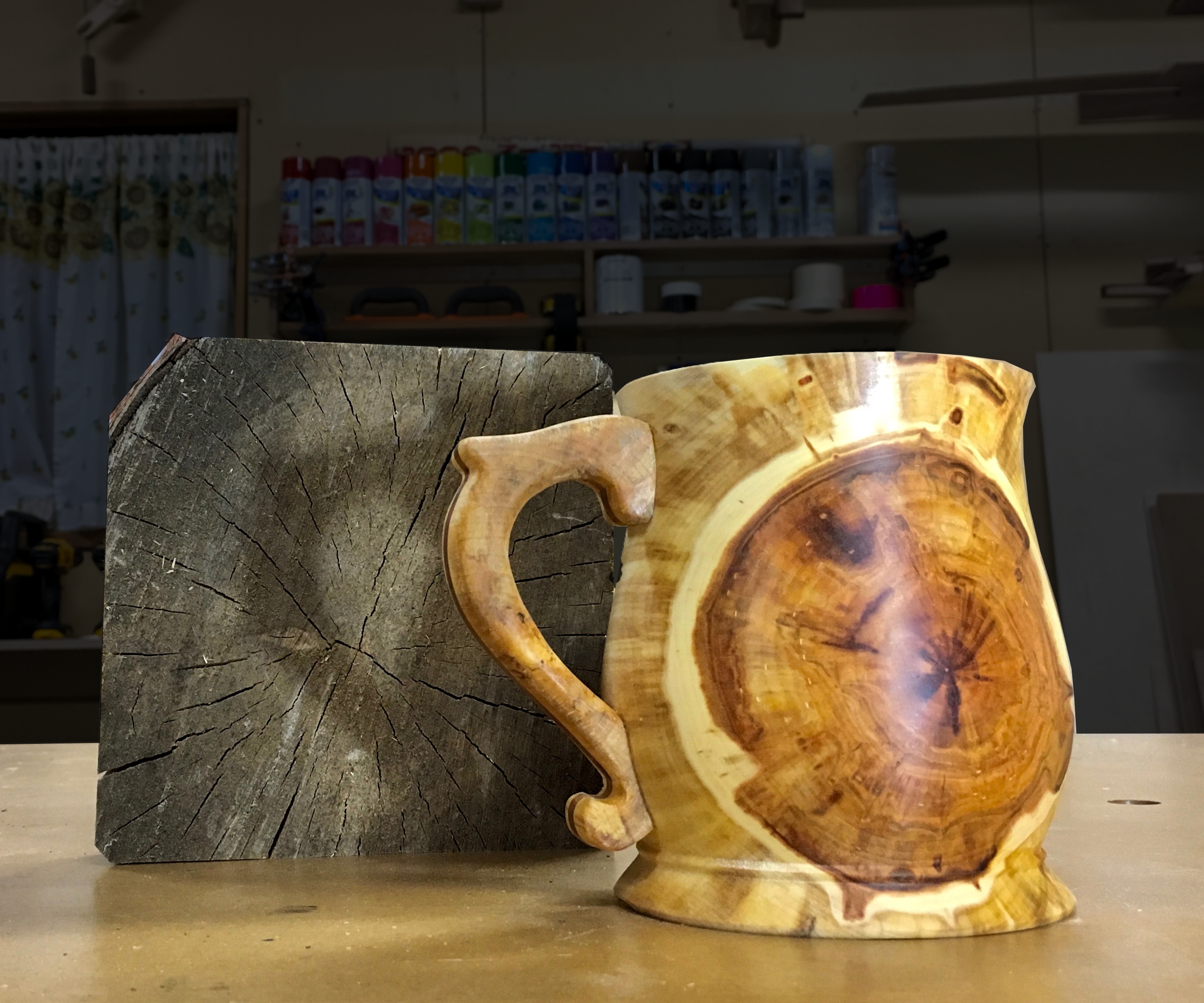 Turning Firewood Into a Cup