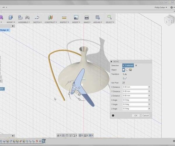 Create & Assemble Lamp Components