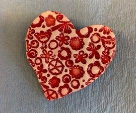 CERAMIC HEART PINS