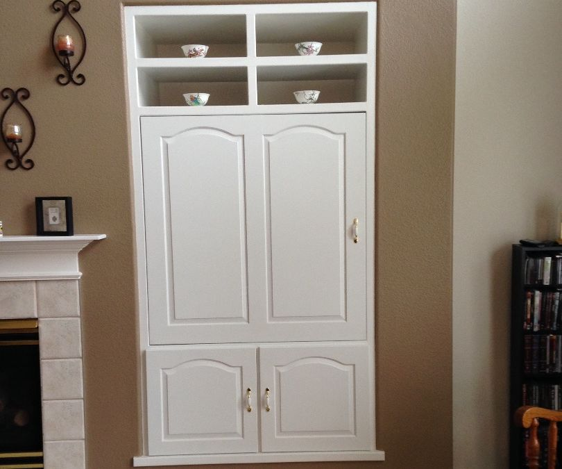 Hide your TV behind a rotating door