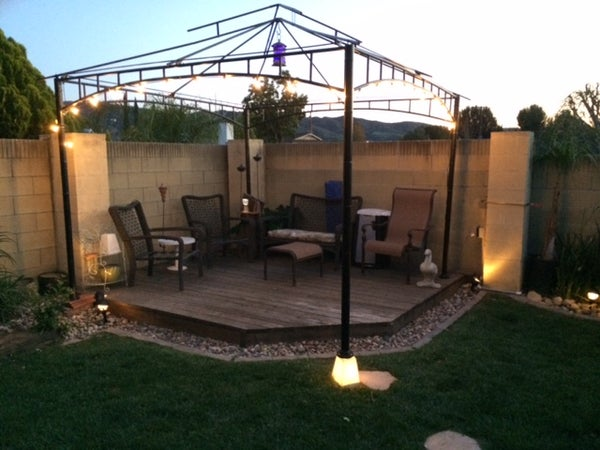 Lit Gazebo Footing (landscape Lighting)