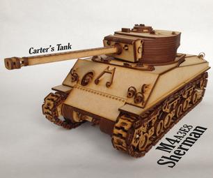 Carter's Lasercut Tank - Sherman