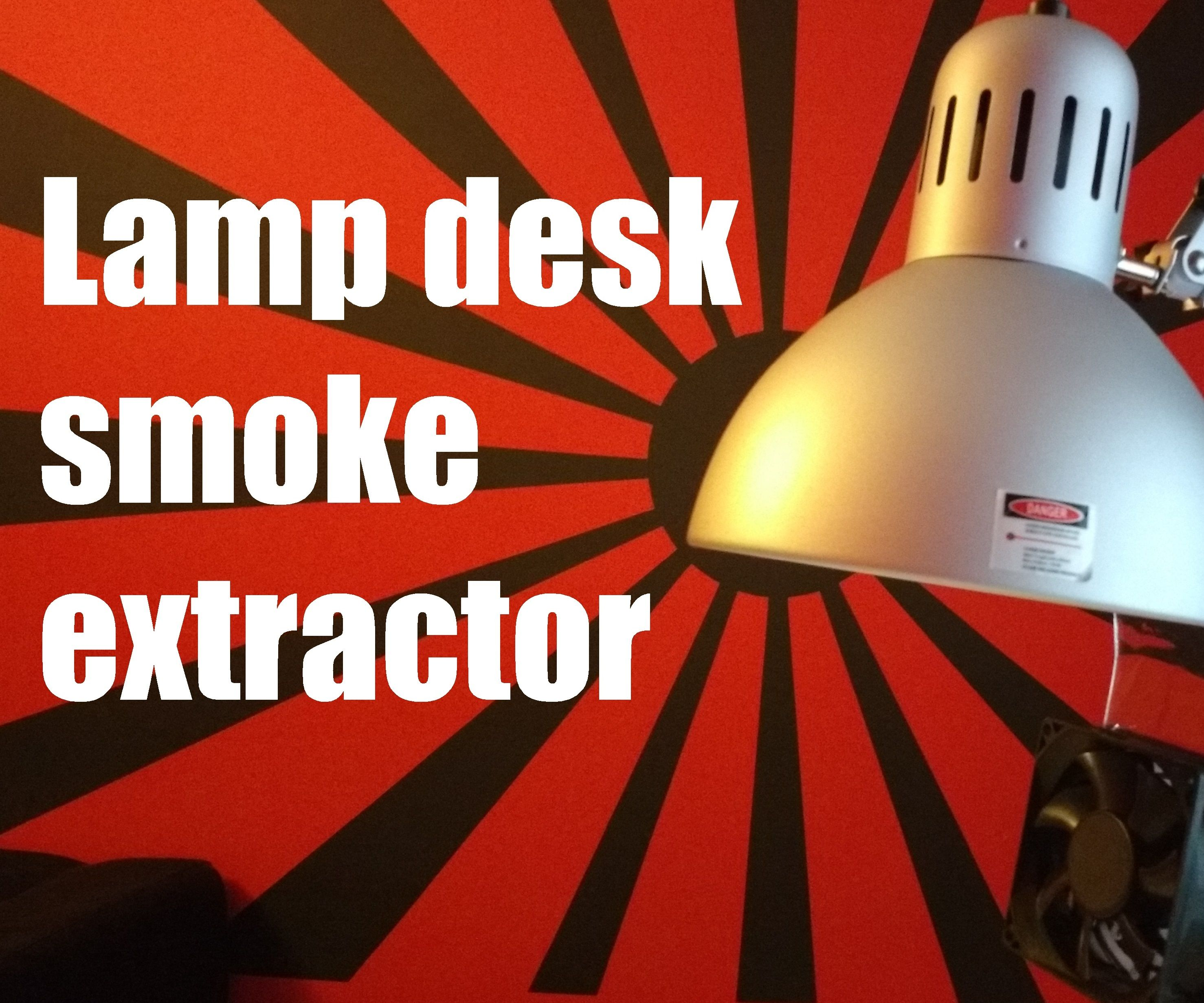 Desk lamp smoke extractor