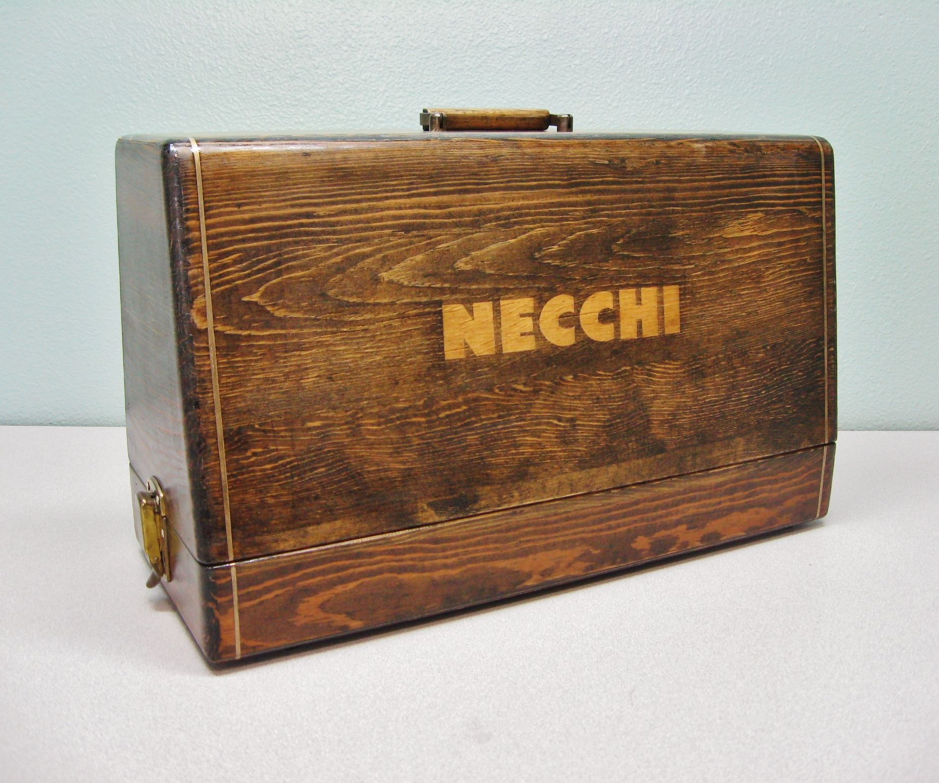 Refinish an old wooden Sewing Case