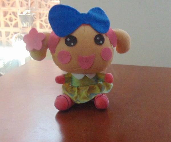 Miss La Sen in Dress Felt Plush Toy