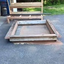 Scrap Wood Headboard and platform bed