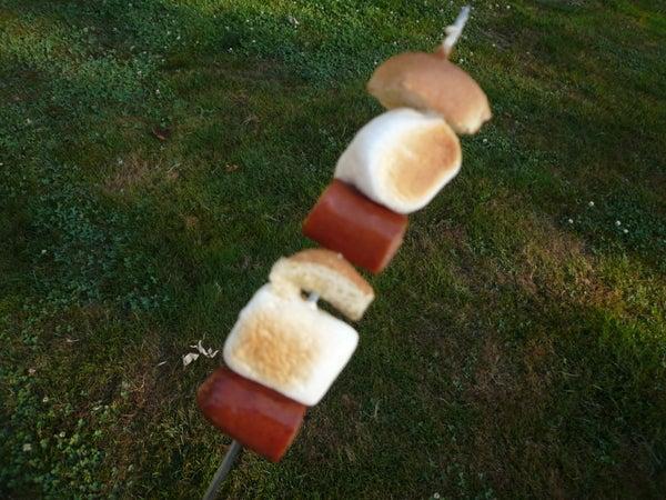 Fluffy Cheesy Weiner Kebabs