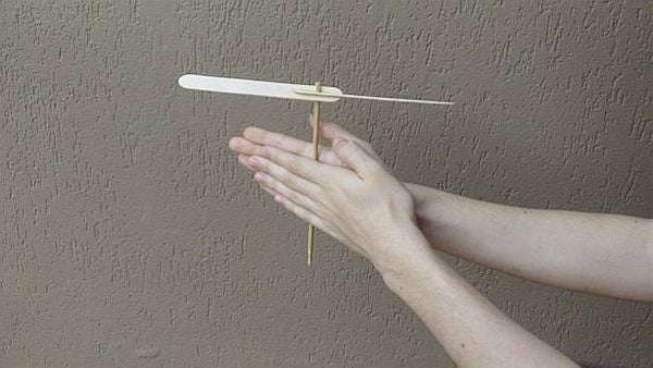 Hand Powered Vintage Propeller Toy.