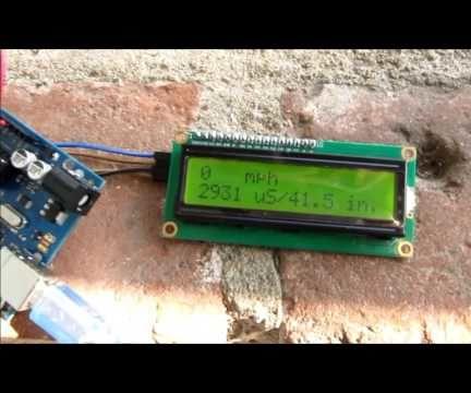 Really Cheap Ultrasonic Wind Speed Monitor