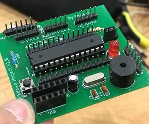 Arduino Pong网球PCB |Arduino,A优德体育utodesk Eagle和JLCPCB