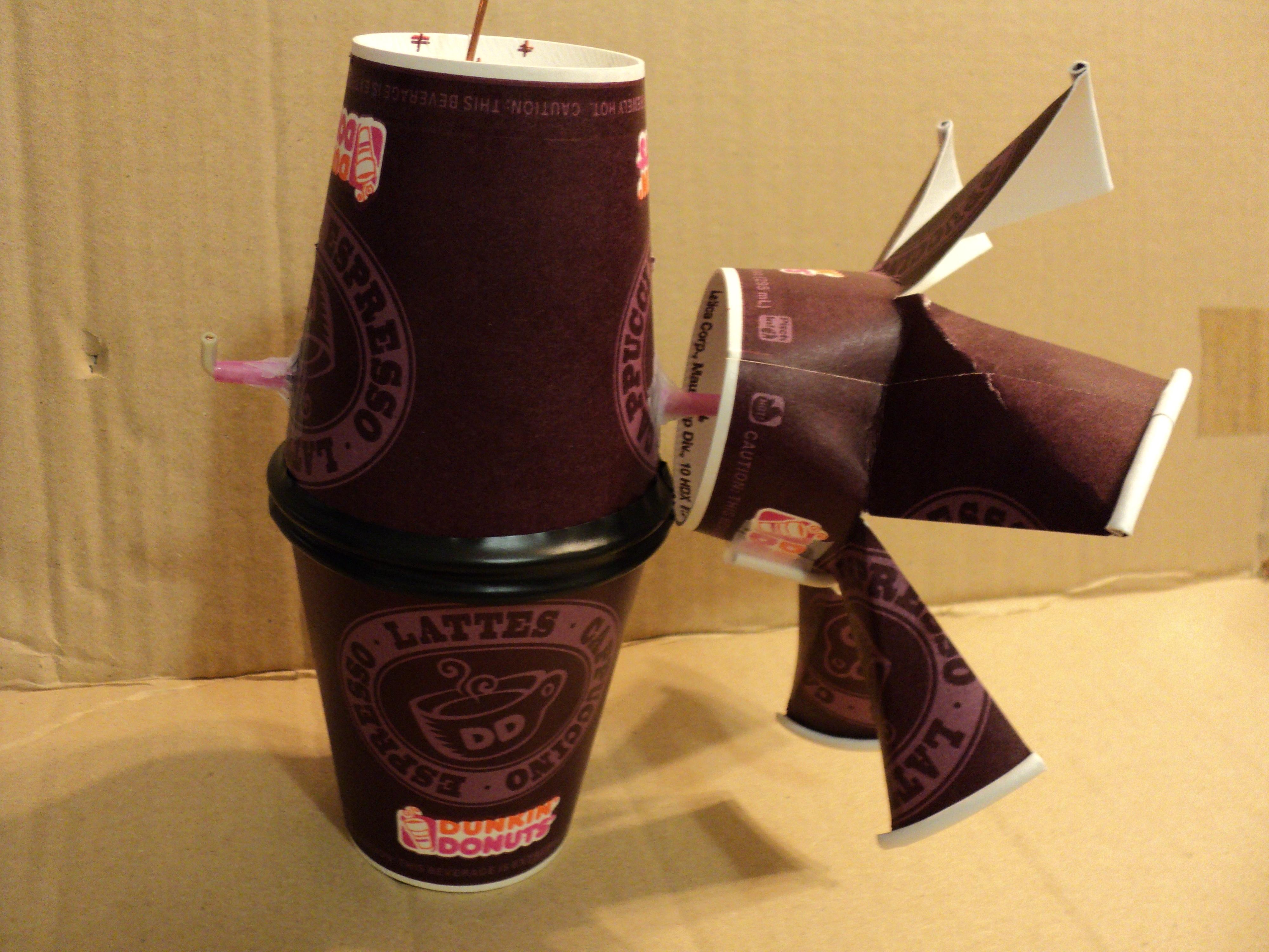 Coffee Cup Whirlygig