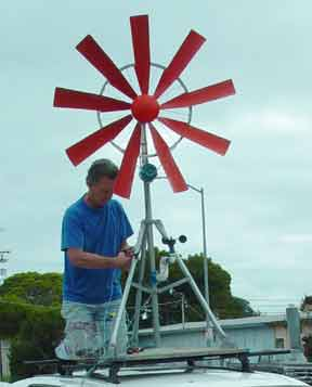 Ted Baer's Bicycle Wheel Windmill