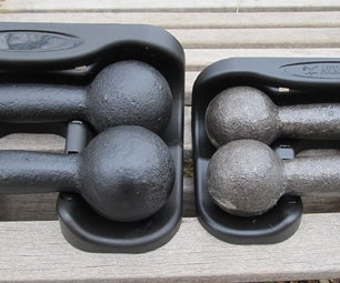 How to Restyle Rubber-coated Hand Weights to Look More Retro/Manly/Stylish/Better