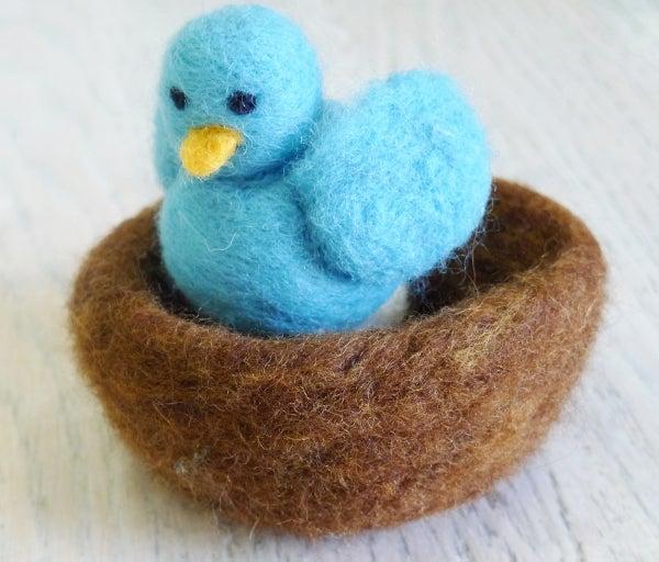 Felted Bird