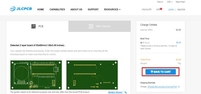 Ordering the PCBs