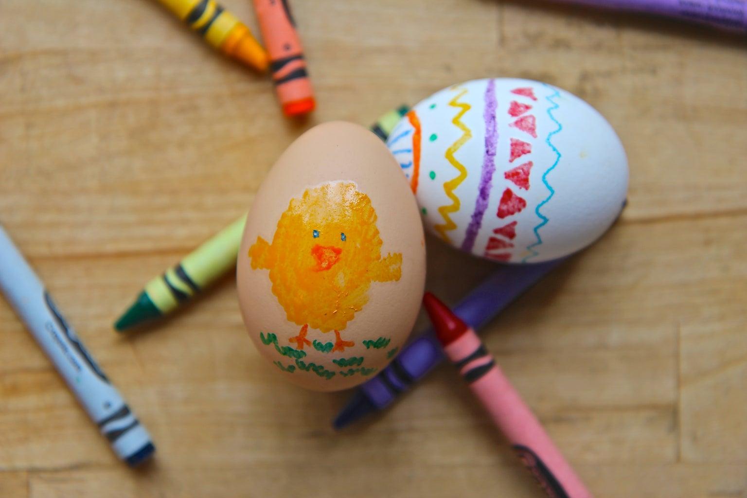 Crayon Easter Eggs