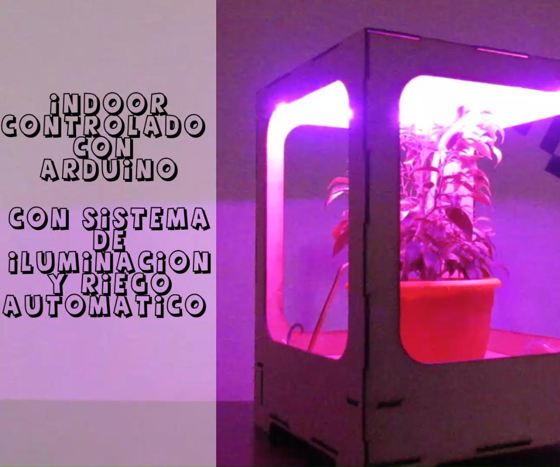 Indoor Con Riego E Iluminación Utilizando Arduino