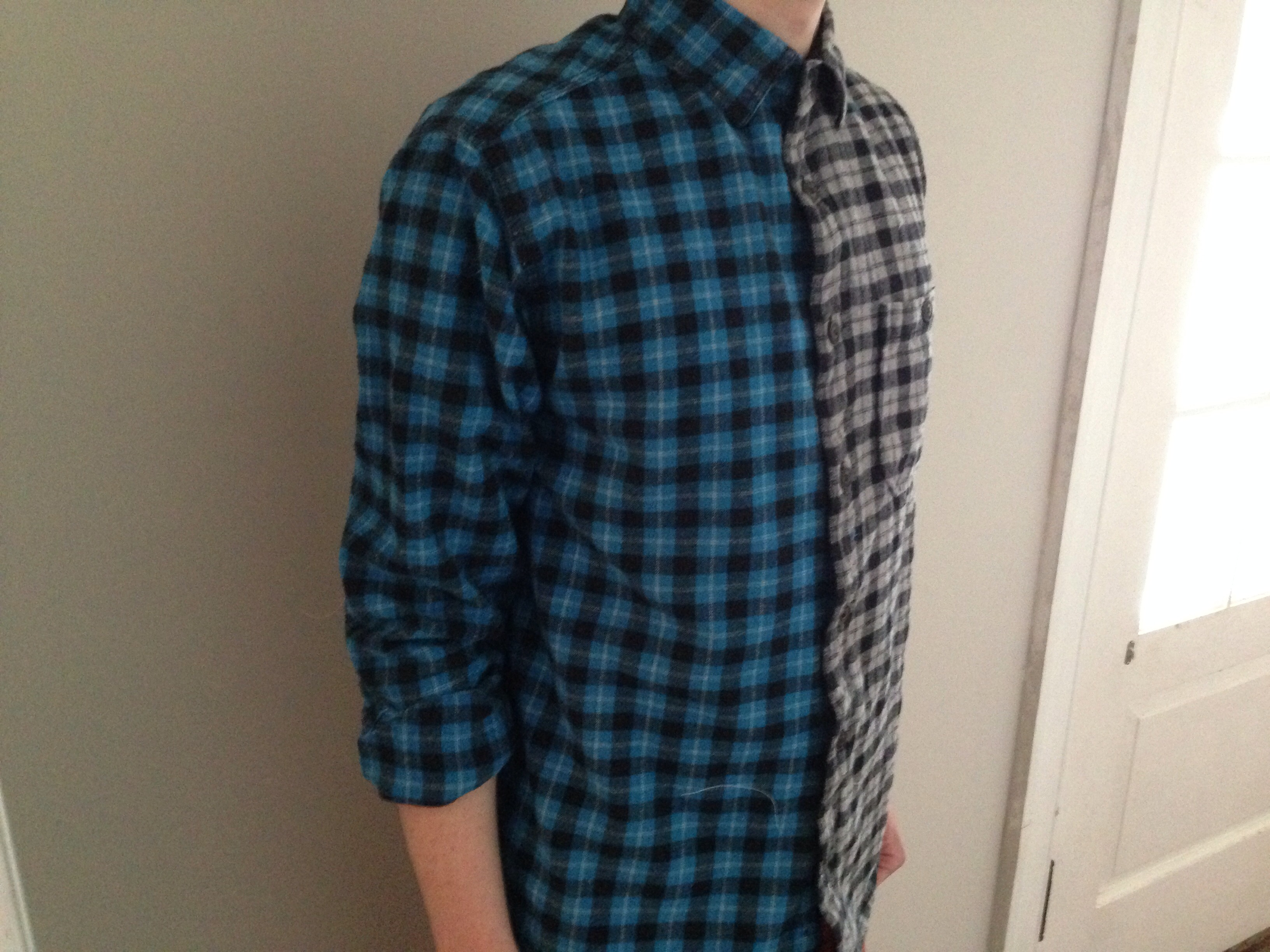 Two Toned Button Up Shirt!