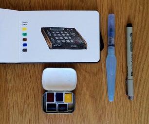 Tiny Altoids Watercolor Paint Set