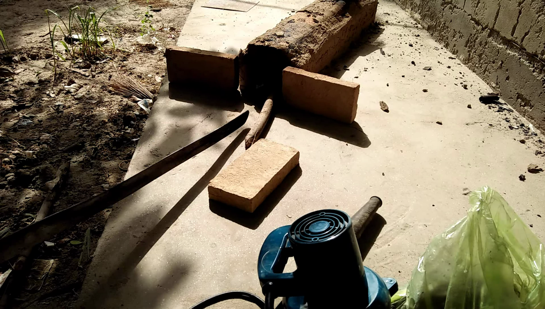 Making the Forge and Forging the Blade in It.