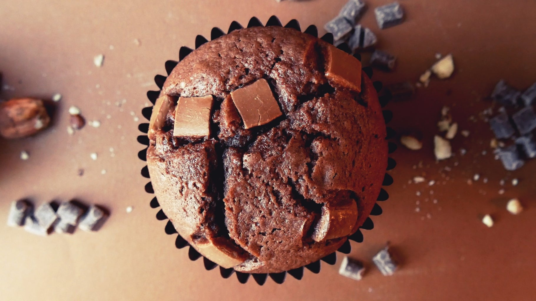 Nutella Chocolate Chip Muffins With a Nutella Truffle Centre