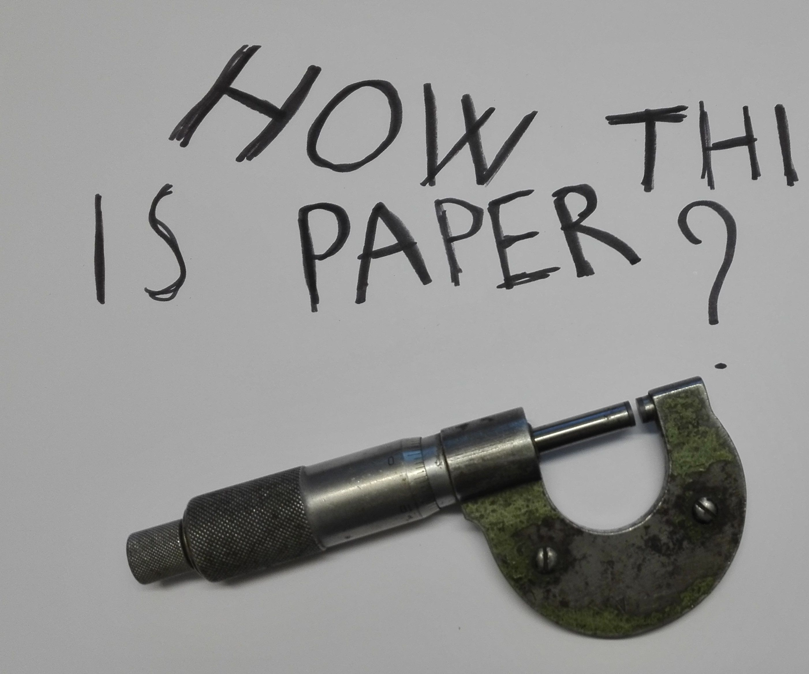 How Thick Is Paper?